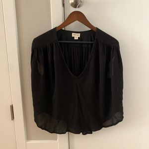 Anthropologie Silence + Noise Short Sleeve Blouse